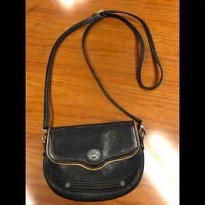 Brighton Classic Black Crossbody Handbag